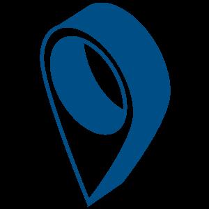 Ilustracija pina za lokaciju plave boje