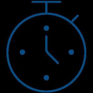 Ilustracija plavog sata