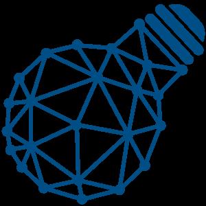 Ilustracija plave sijalice