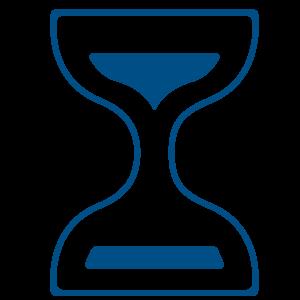 Ilustracija plavog peščanog sata