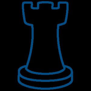 Ilustracija figure za šah - topa