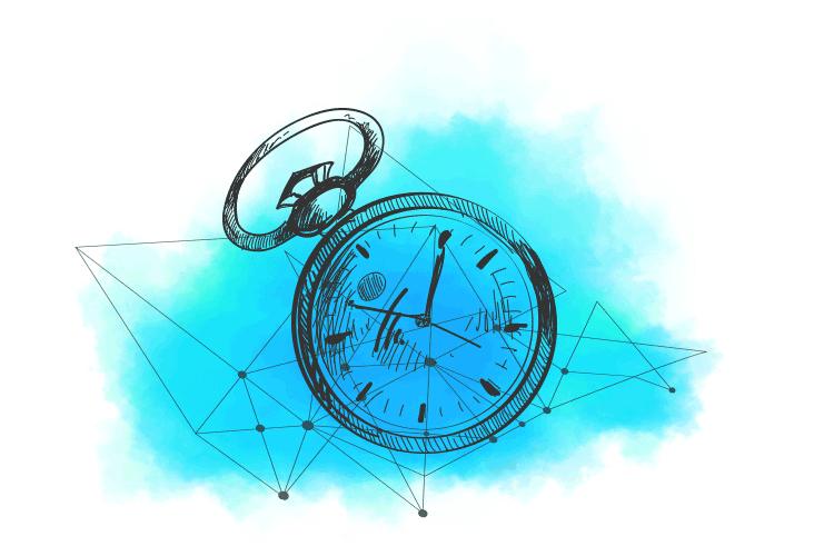 Ilustracija sata koji predstavlja kontinuet poslovanja