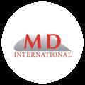 Velikim crvenim slovima ispisano MD i ispod international